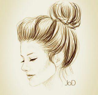 Messy Bun Beauty Drawings Art Cute Drawings