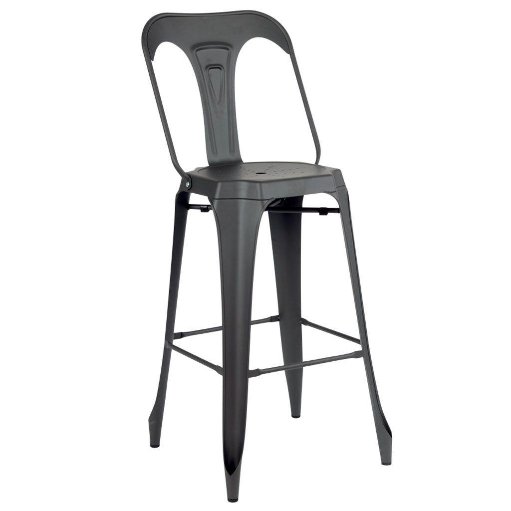 Chaise De Bar En Metal Mackay Au Design Industrielle Des Annees 50 Chaise Bar Chaise De Bar Industriel Chaise