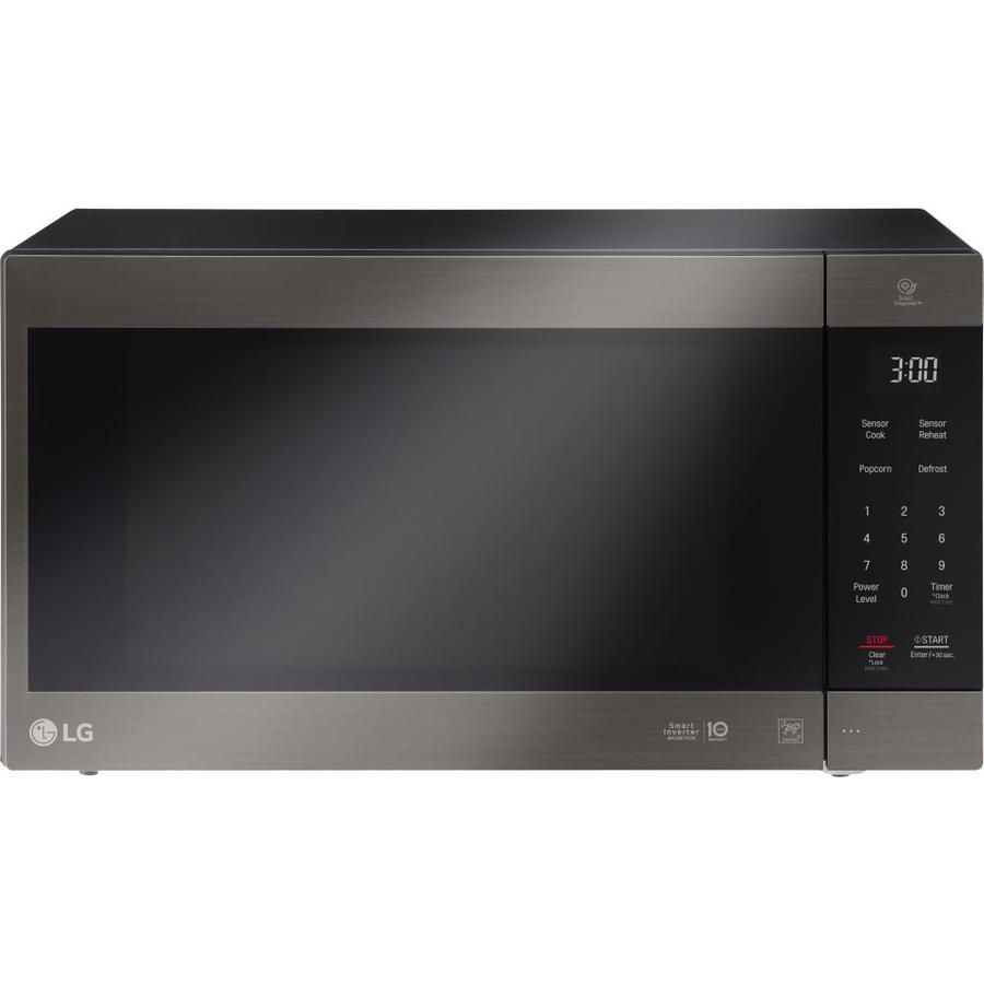 Lg 2 Cu Ft 1200 Countertop Microwave Black Stainless Steel