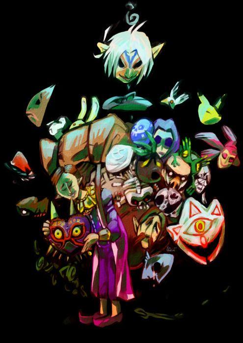 Happy Mask Salesman By Eva Eskelinen Legend Of Zelda Fan Art Anime