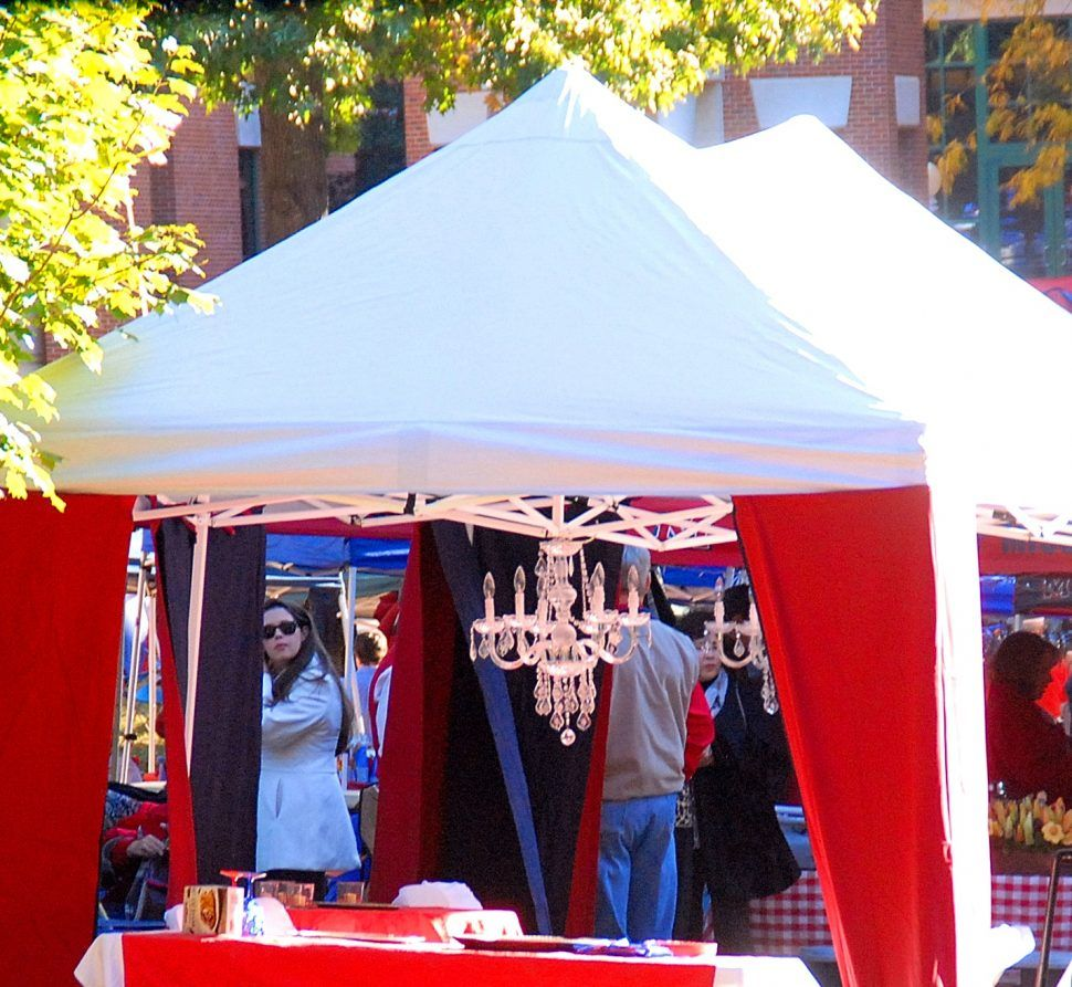 Captivating ole miss tailgating and tent canopy afaeebeee large tailgating tent curtains chandelier ole miss knows how to tailgate arubaitofo Image collections