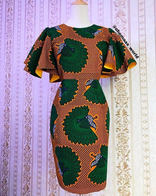 2019 Lovely Ankara Short Gown Styles for African Ladies - #africaine #African #Ankara #gown #Ladies #Lovely #Short #styles #africanfashionankara
