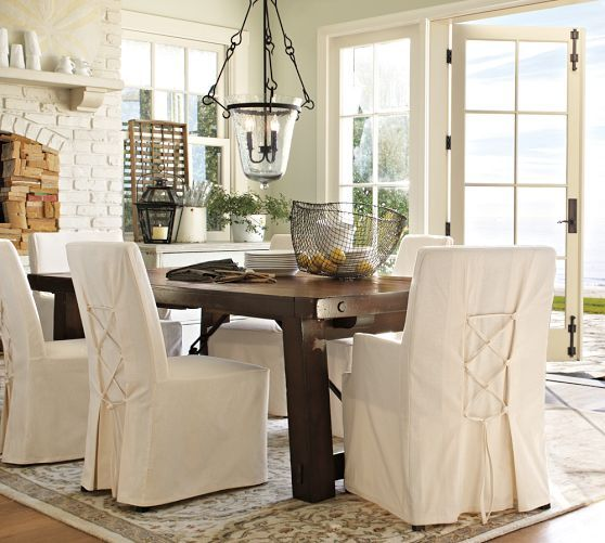 Napa Chair & Slipcovers  Pottery Barn  Slip Covers  Pinterest Custom Slipcovered Dining Room Chairs Design Ideas