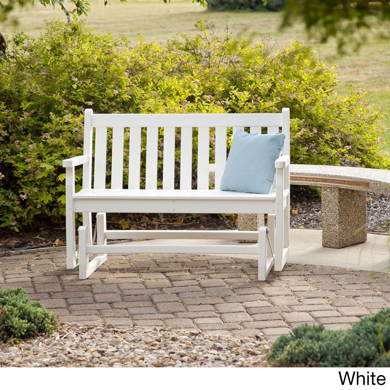 Fine Polywood Traditional 48 Inch Outdoor Garden Bench Glider Machost Co Dining Chair Design Ideas Machostcouk