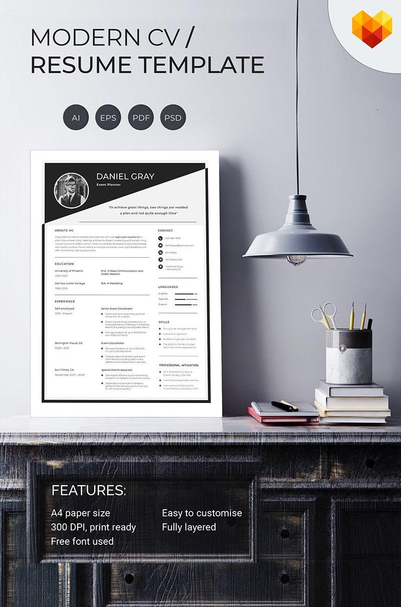 Daniel gray event planner resume template 66457