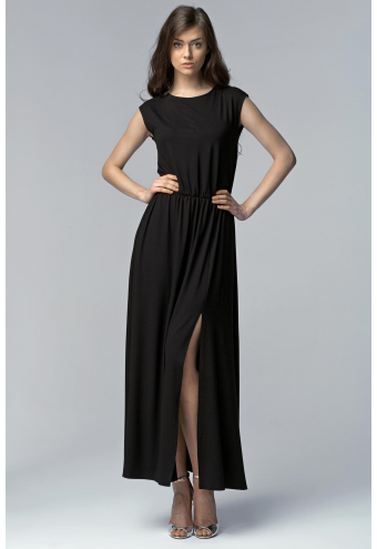 Robe noire longue les petites