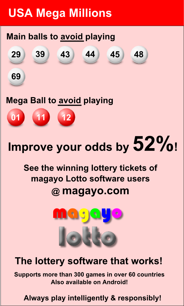 Improve Your Odds By 52 In Winning Usa Mega Millions Winning Lottery Numbers Winning Lottery Ticket Lottery Strategy