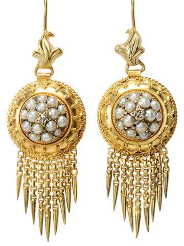 Etruscan revival earrings