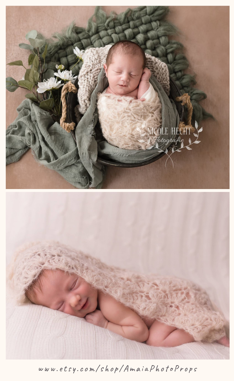 Photo of Lace wrap for photography, Lace baby blanket, Vintage newborn photo prop