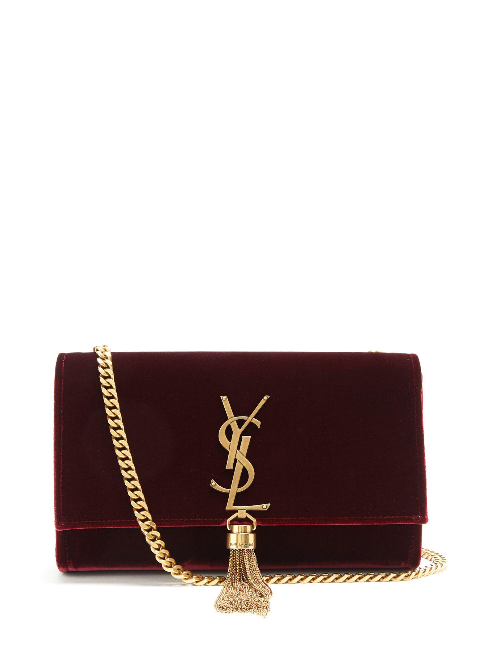 d86183687a8f Saint Laurent Kate small velvet shoulder bag