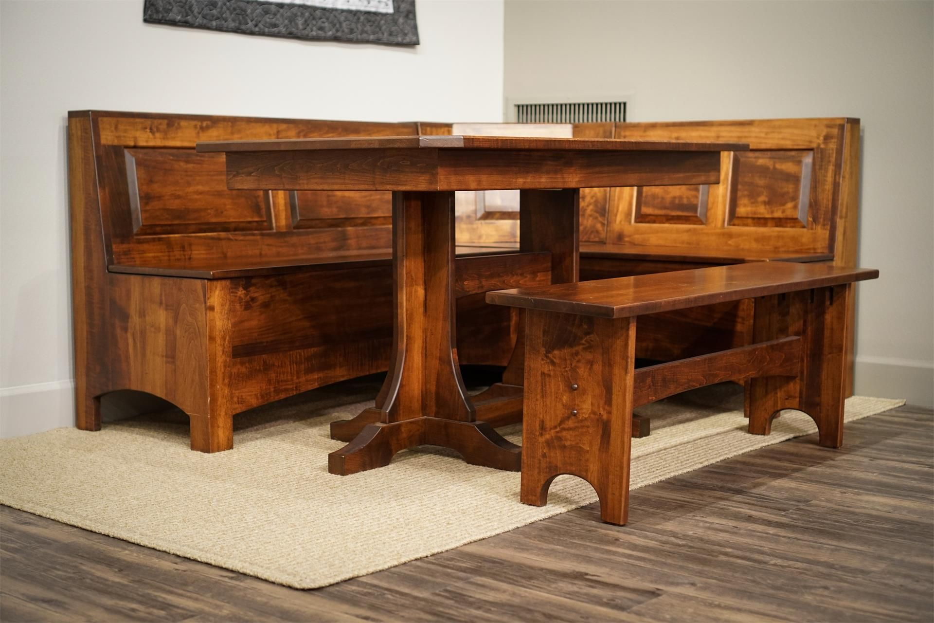Solid Wood Amish Breakfast Nook Set Breakfast Nook Set
