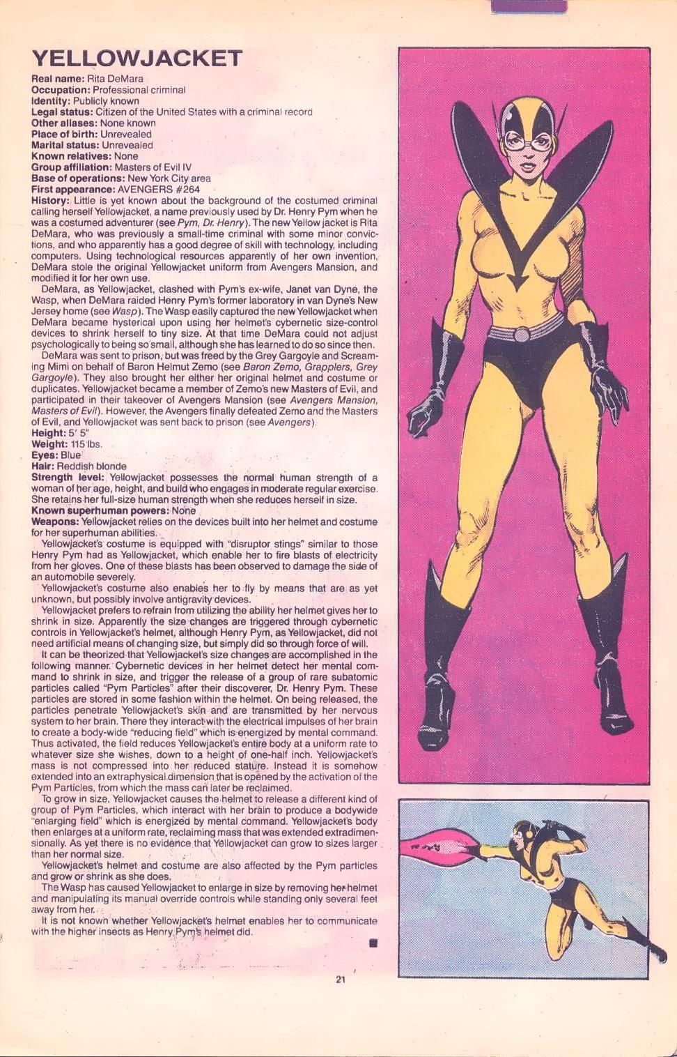 Chaqueta Amarilla Fichas Marvel ficha Comics Comics De xCngq6HzwZ