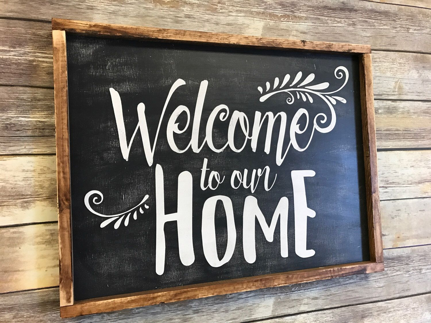 Wood Signs Home Decor Welcome To Our Home Wood Sign Welcome Sign Home Decor Sign