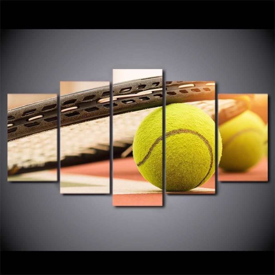 Tennis Racket Sport Canvas Wall Art Canvas Wall Art Tennis Racket Panel Art
