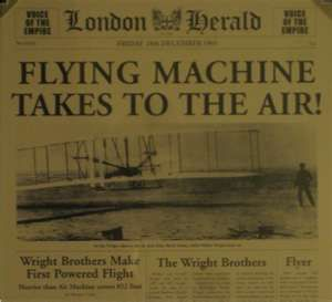 Newspaper Article About The Wright BrotherS First Flight  More