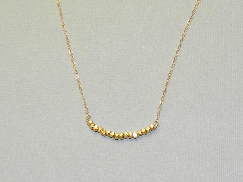 Gold nugget bar necklace simple gold jewelry bar necklace gold gold nugget bar necklace simple gold jewelry aloadofball Image collections