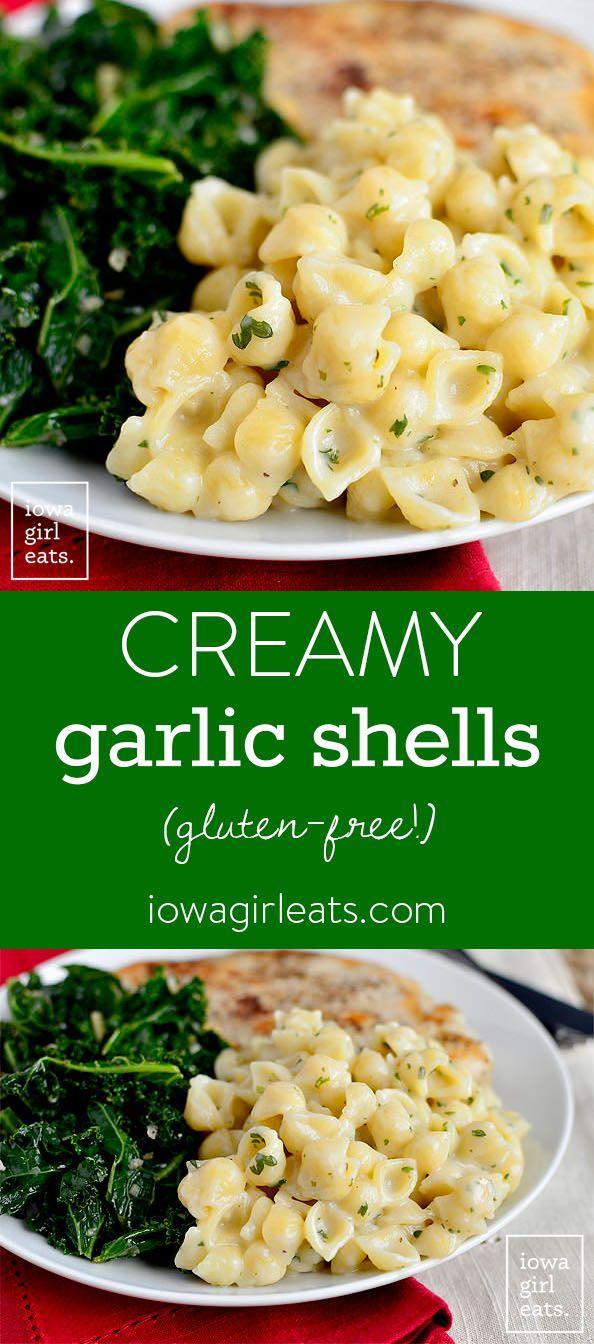 Creamy Garlic Shells - Iowa Girl Eats