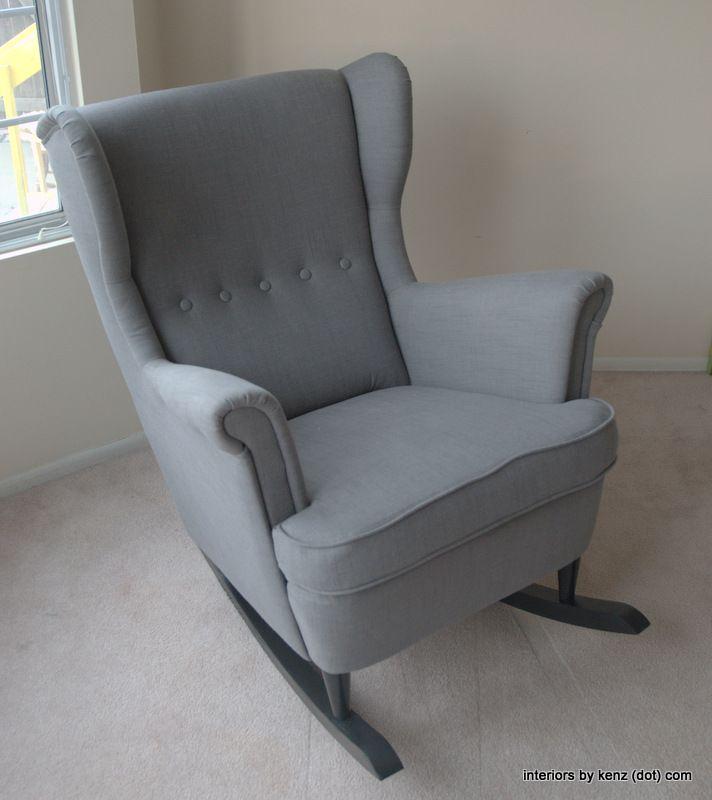 ikea hack strandmon rocker diy wingback rocking chair avalucy sweet dreams pinterest. Black Bedroom Furniture Sets. Home Design Ideas