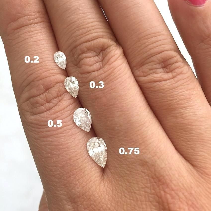 Image Result For Pear Diamond Size Comparison Pear Diamond Engagement Pear Diamond Engagement Ring Pear Shaped Engagement Rings