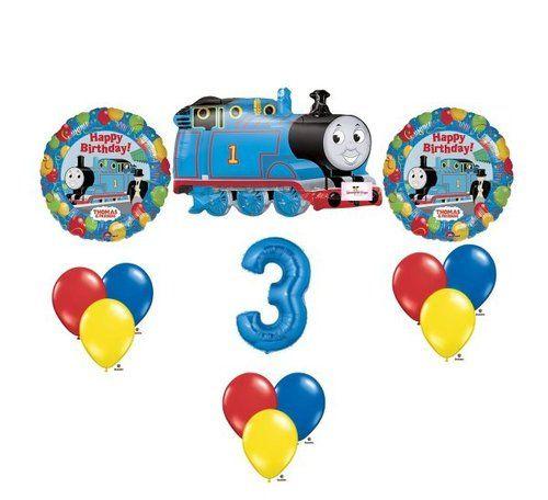 Thomas Train birthday party balloons