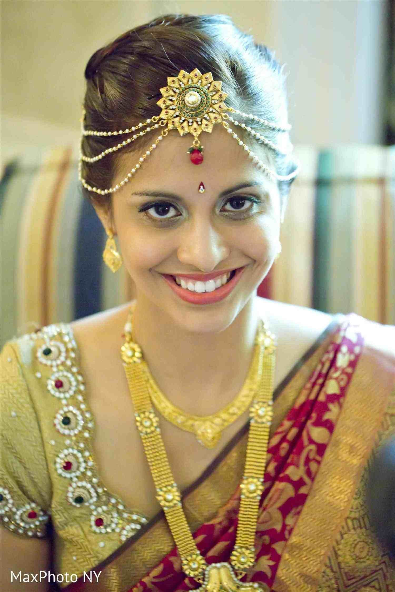 bridal front hairstyle for south indian wedding | hair