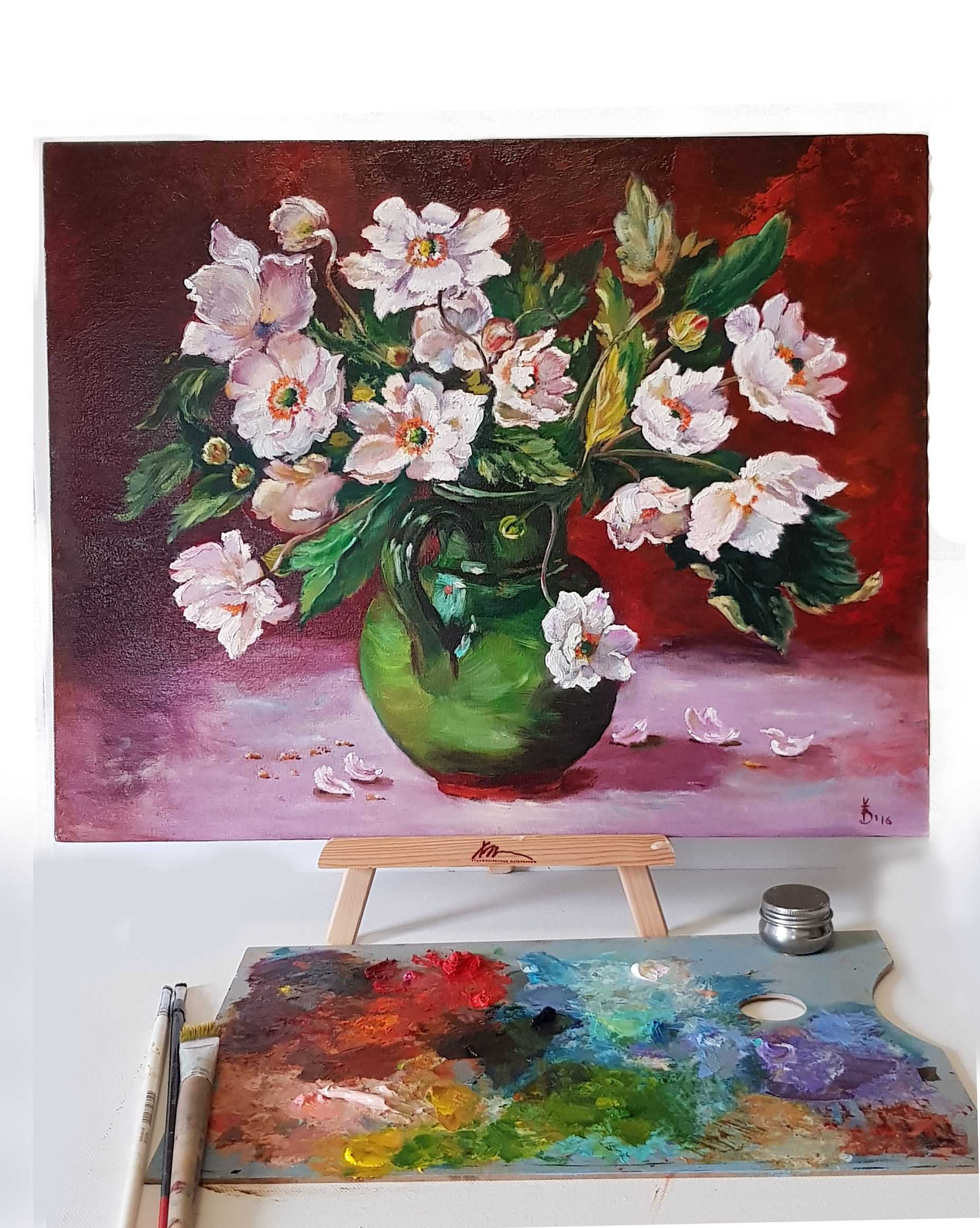 White Flowers Oil Painting Magnolia Painting Bouquet Flowers Etsy Oil Painting Flowers Oil Painting Flower Painting