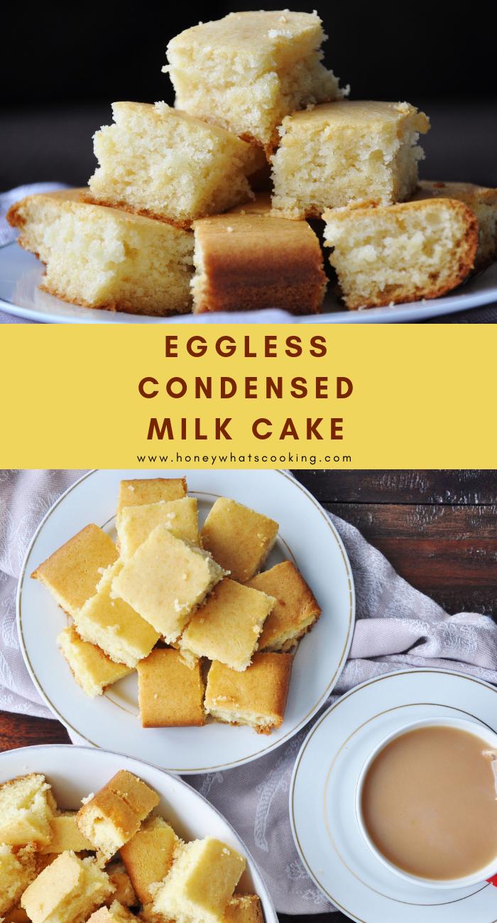 Eggless Condensed Milk Vanilla Cake Recipe Condensed Milk Recipes Eggless Cake Recipe Condensed Milk Milk Recipes