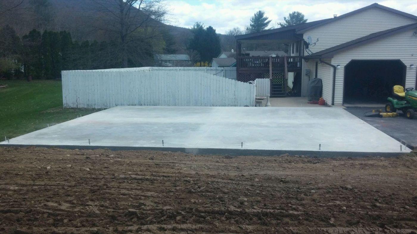 Concrete Foundation Contractors In 2020 Concrete Sheds Concrete Pad Shed Design