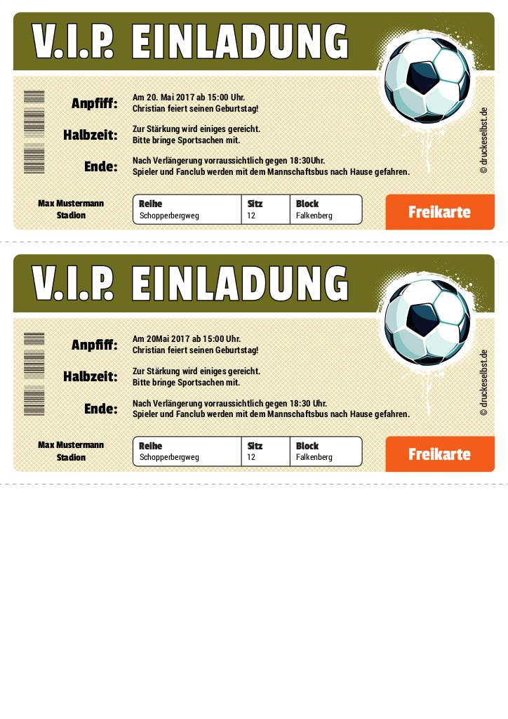 Einladung zum ausdrucken kostenlos fußball Einladungskarten Kindergeburtstag