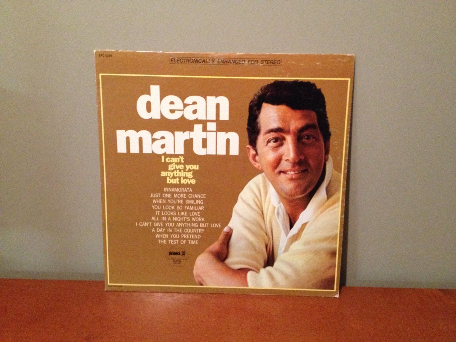 "Dean Martin ""I Can't Give You Anything but Love"" vinyl record"