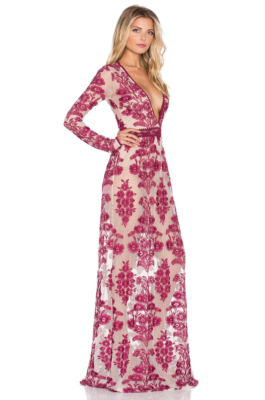 For Love & Lemons Temecula Maxi Dress en Vino | REVOLVE | Fashion ...