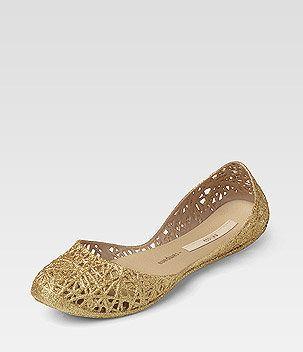 buy popular c9130 22998 Melissa Gummi-Ballerina ZIG   ▻Görtz◁ Metallic Look ...