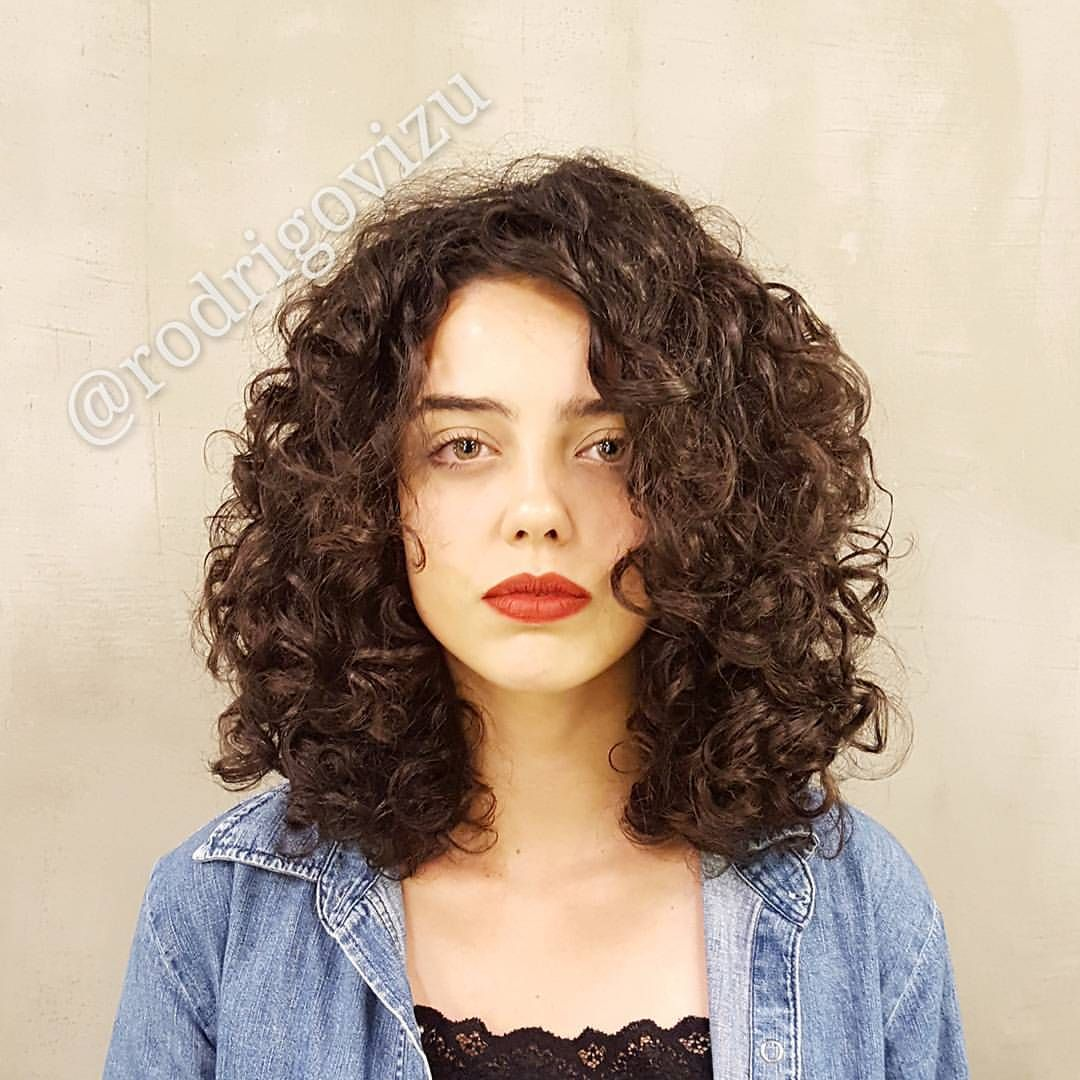 medium haircut. | curly girl hair | curly hair styles, curly hair