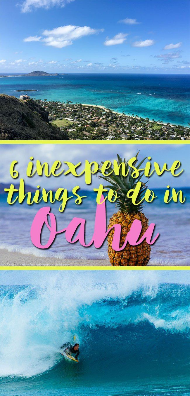 inexpensive things to do in Oahu, Hawaii.