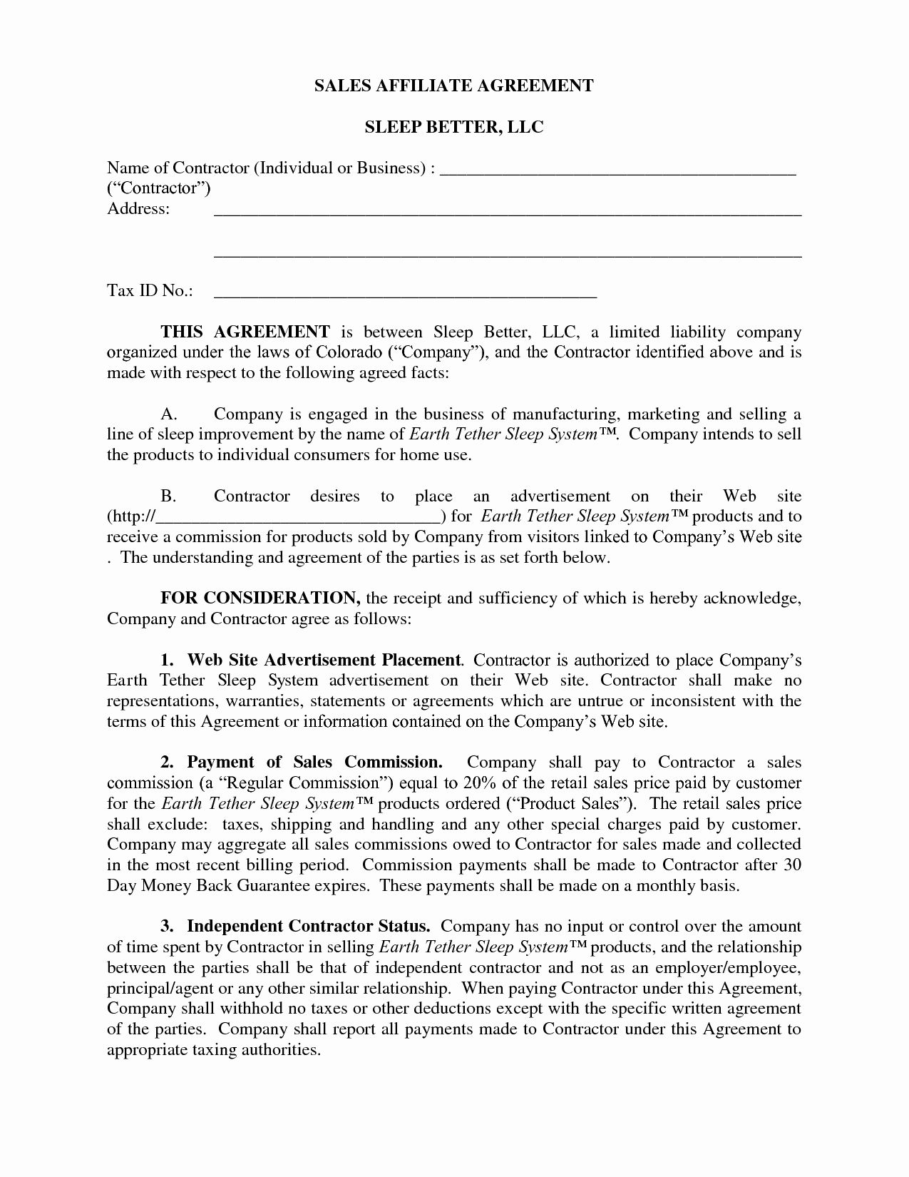 Sales Commission Contract Template Lovely 10 Best Of Sample Sales Agreement Business Sales Contract Template Business Resume Template Resume Template Word
