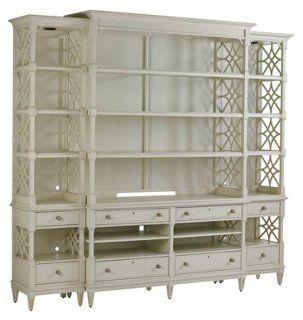 Stanley Furniture Pavillion Media Bookcase Light Gray Furniture