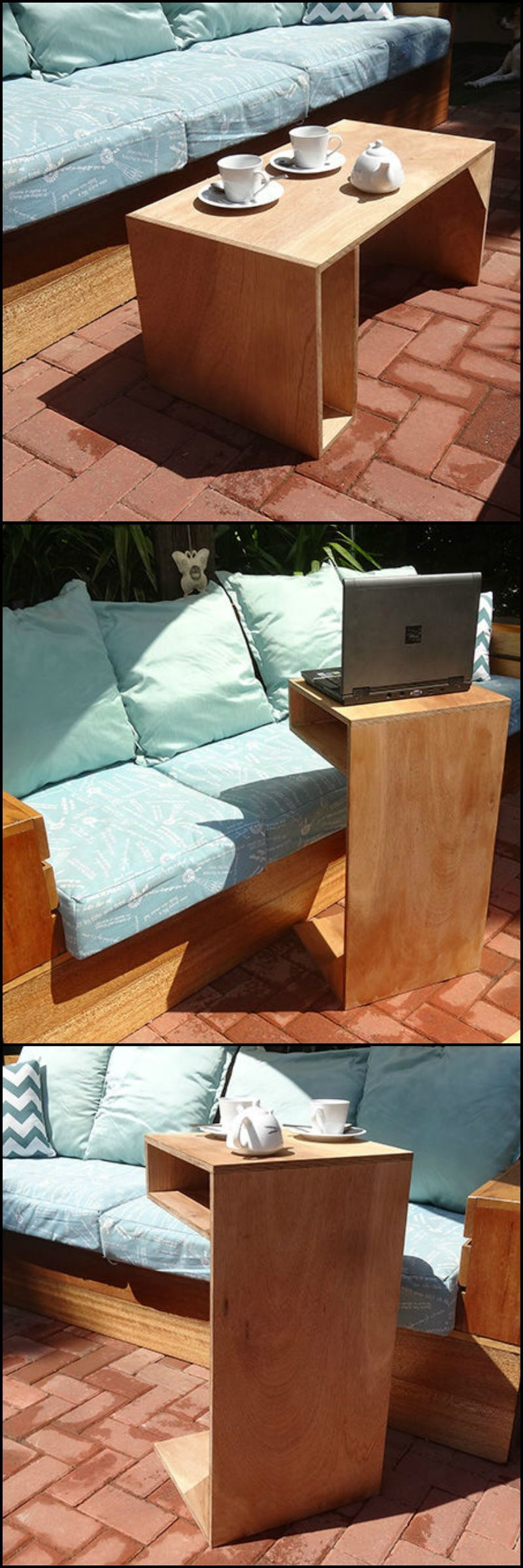 This 3 in 1 table is an end table coffee table and a laptop