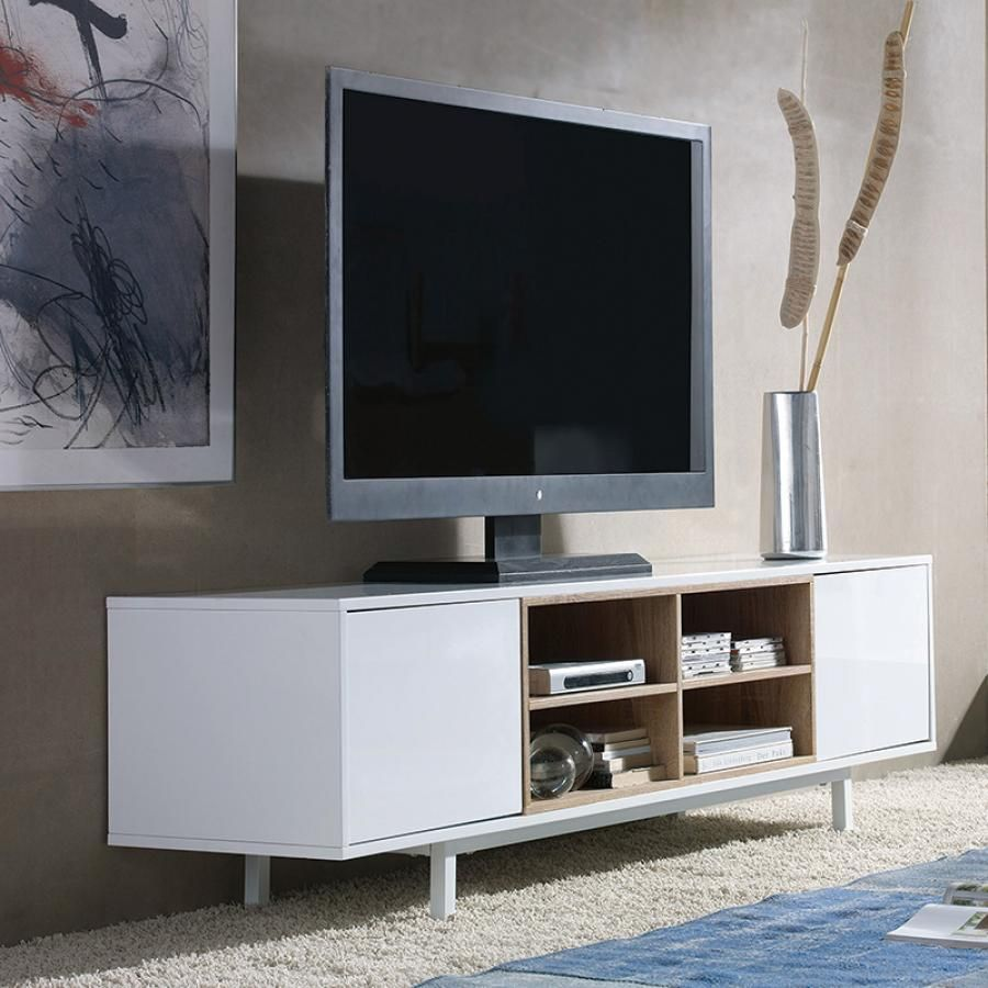 Contemporary Modern TV Unit (available in High Gloss White or Matt ...