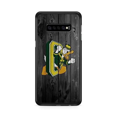 Oregon Ducks University Nfl Logo Dark Wood Wallpaper 2 Samsung