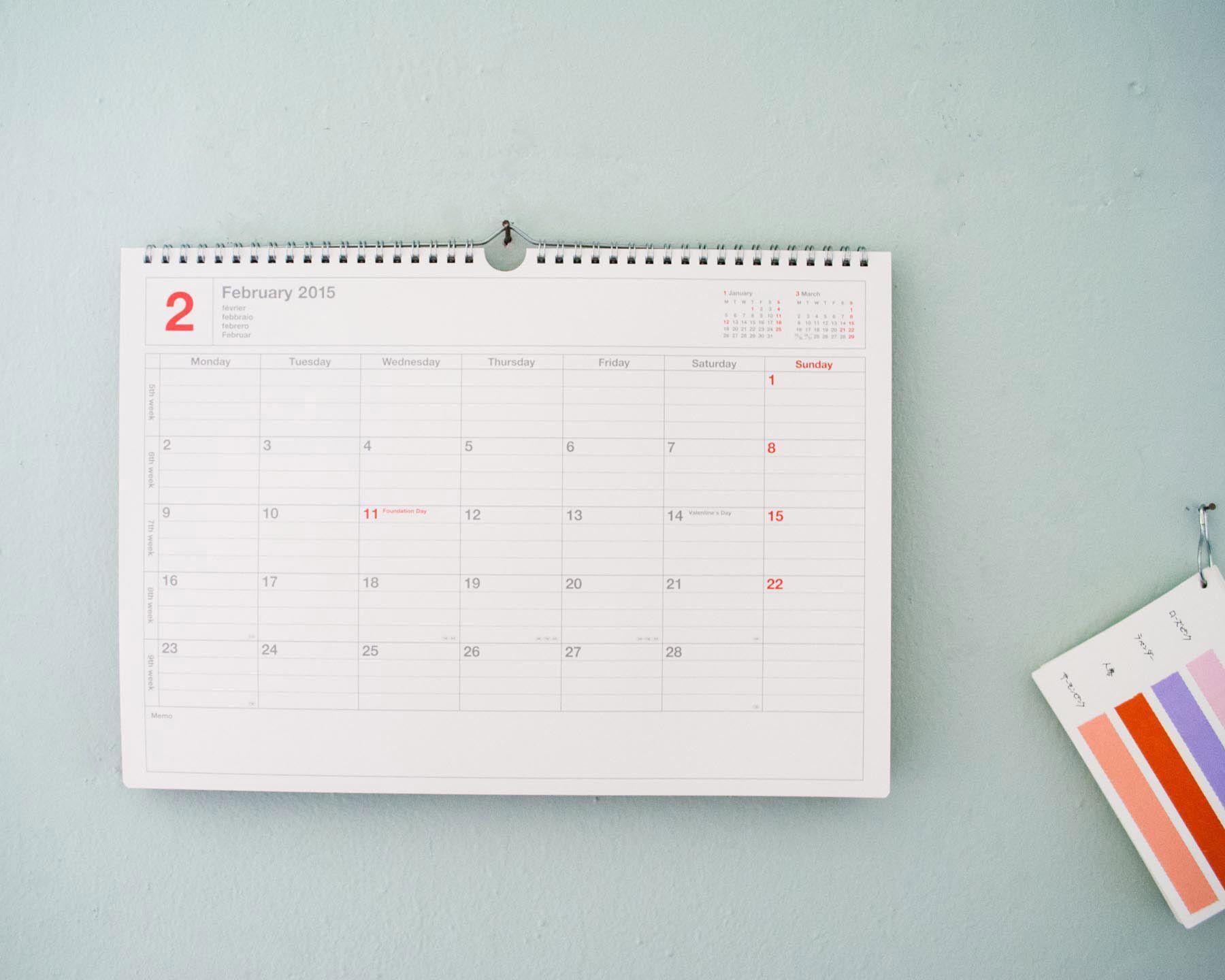 Mark's 2015 Notebook Calendar Large -$18