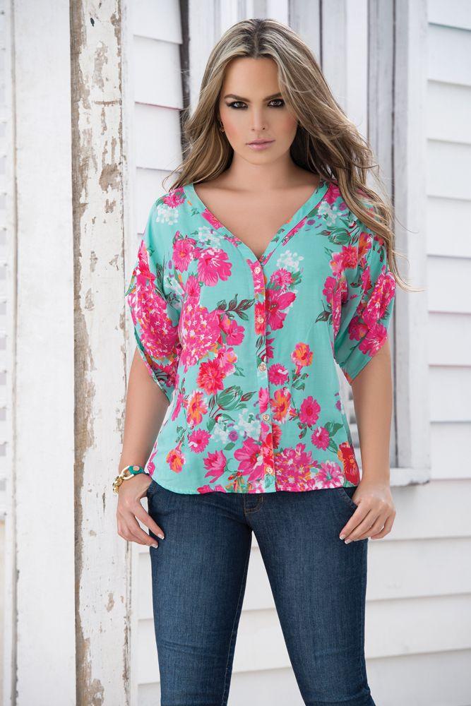 859bd11a124a vestidos con tela chalis - Buscar con Google | ropa | Blusas ...