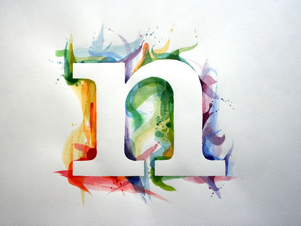 paint canvas with water colors let dry spell something in huge vinyl hebrew letters