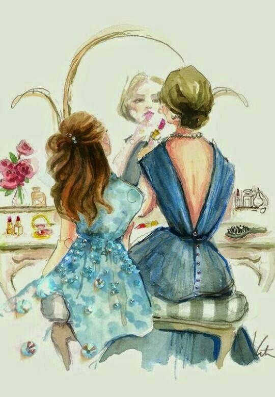 Mama E Hija Madres E Hijas En 2019 Illustration Art Y Drawings