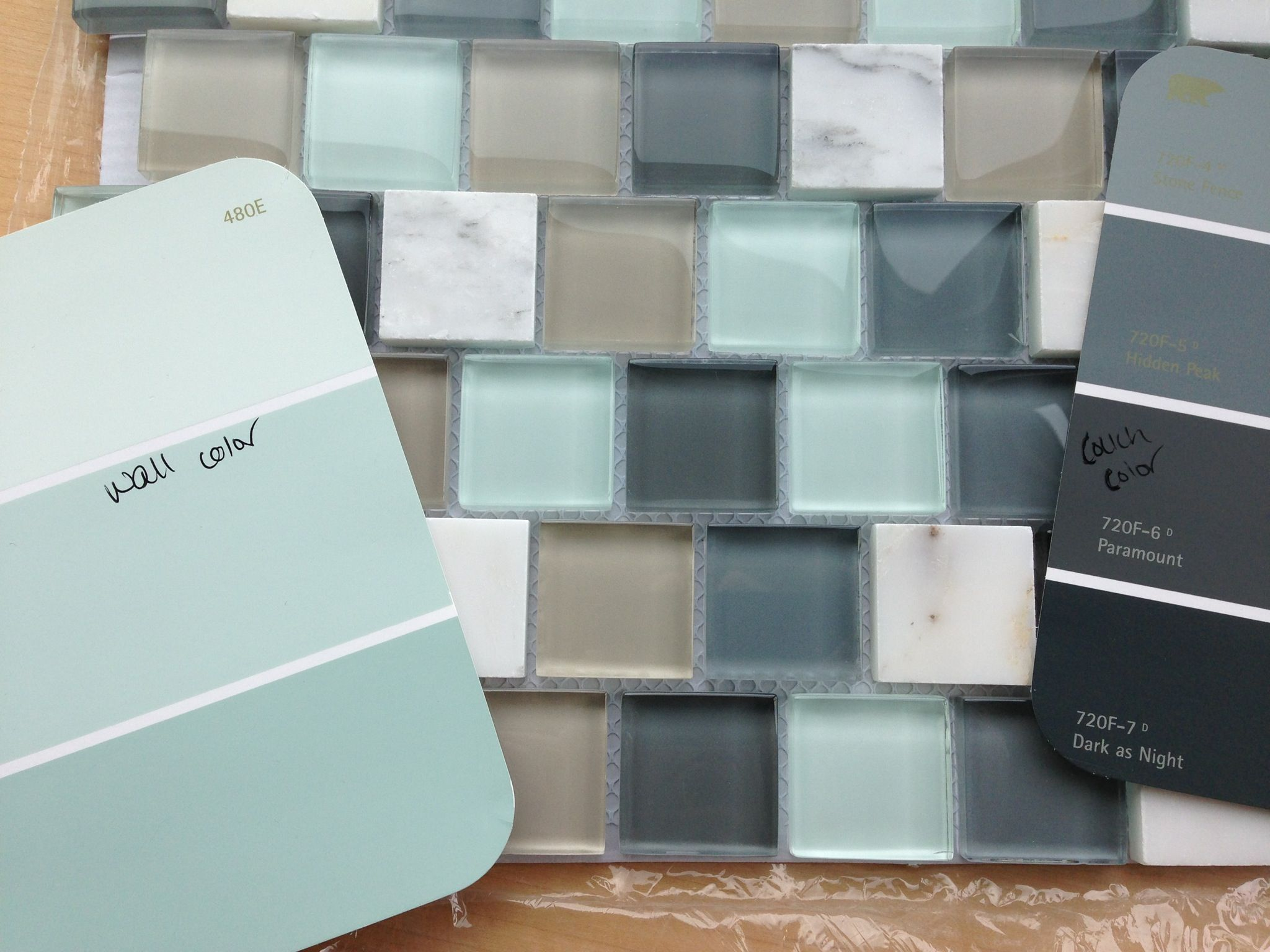 Tiles for the fireplace and wall/couch colors | Colors for the ...