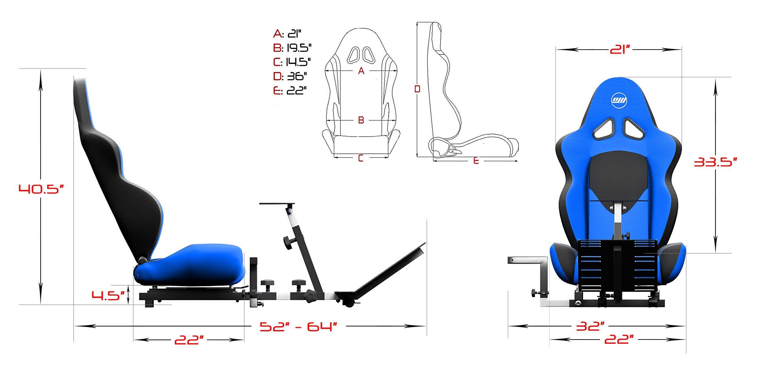 a80de43047c Openwheeler GEN2 Racing Wheel Stand Cockpit Blue on Black Fits All Logitech  G29 G920 All Thrustmaster All Fanatec Wheels,#Stand, #Cockpit, #Blue, #Wheel