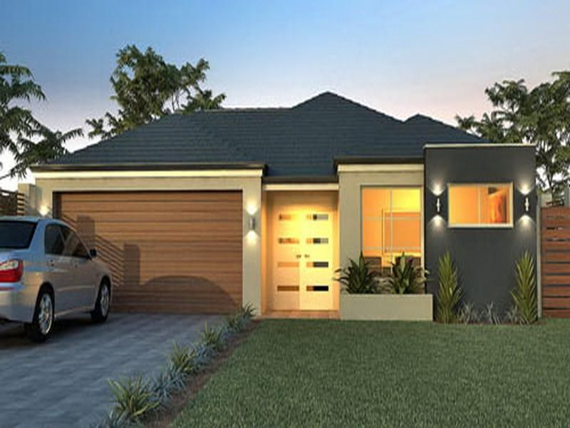 Small modern single story house plans interior design for Contemporary single story house design