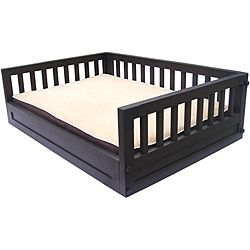 Overstock.com. includes a thick two-inch pad that has a removable, washable cover so it can be kept clean and smelling fresh.http://www.overstock.com/Pet-Supplies/Eco-Friendly-Small-Raised-Bed/6585350/product.html?CID=214117 $55.79