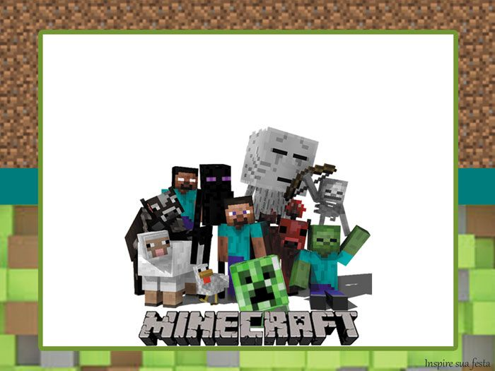 Fiesta de Minecraft  Invitaciones 6030b096ae1