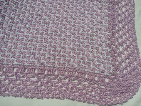 Manta /cobijita /colcha / frazada para bebe en crochet fácil y ráp ...