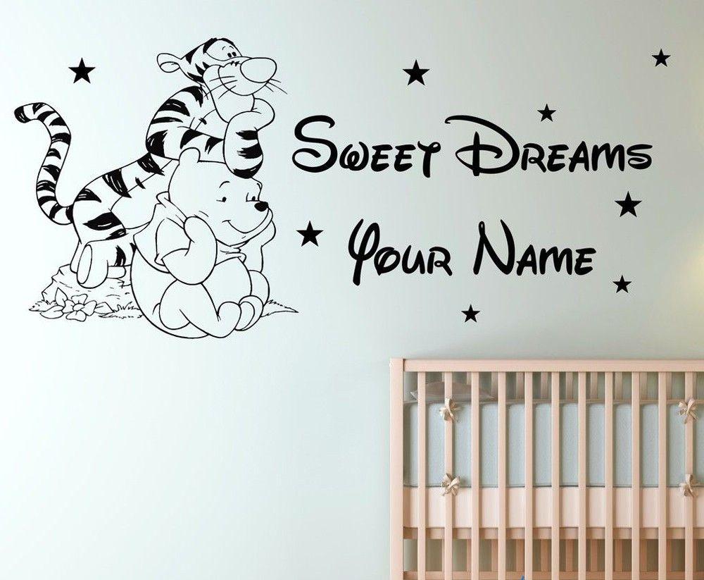 Custom Name Tigger Winnie The Pooh Children Bedroom Removable Vinyl